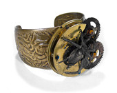 Gold Pocket Watch Spider Bracelet