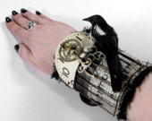 Steampunk Mixed Media Fashion Wrist Cuffs