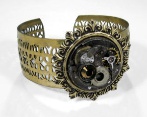 Best Steampunk Industrial Cuff Bracelet by EDMDesigns