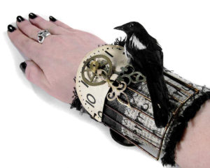 EDMDesigns and Half Street Studio's Incredible Textile Steampunk Wrist Cuffs