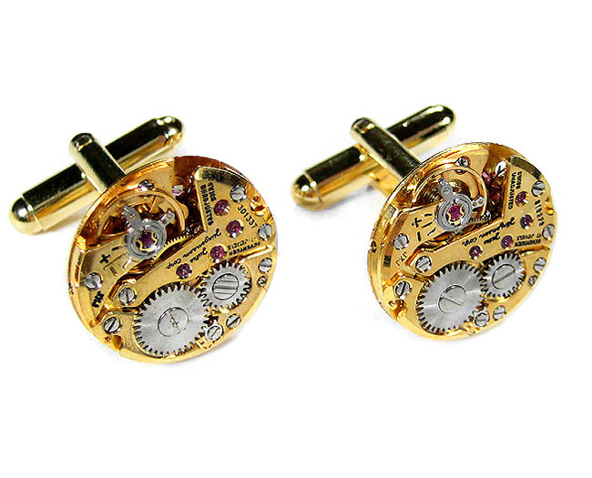 Steampunk Cufflinks by EDMDesigns Gold Genuine Jules Jergensen Luxury Medium Round Cuff Links